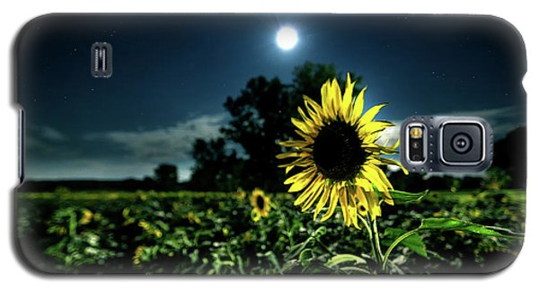 Galaxy S5 Case featuring the photograph Moonlighting Sunflower by Everet Regal