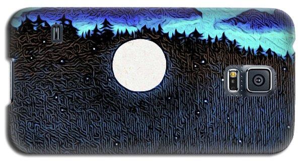 Moonlit Beach Galaxy S5 Case