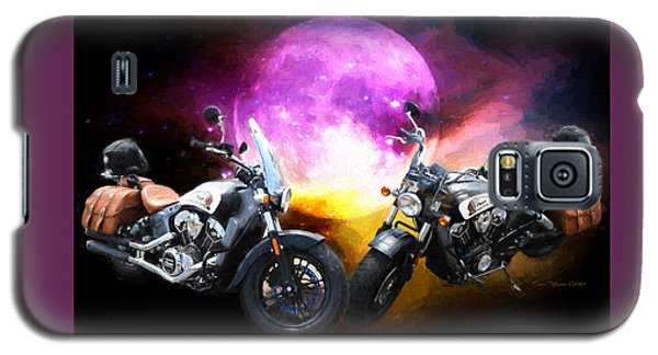 Moonlit Indian Motorcycle Galaxy S5 Case