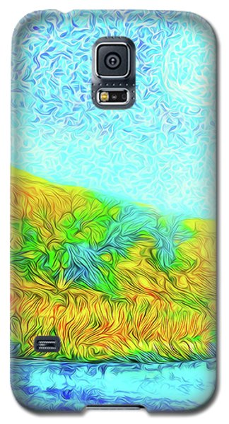 Galaxy S5 Case featuring the digital art Moonlit Island Blue - Boulder County Colorado by Joel Bruce Wallach