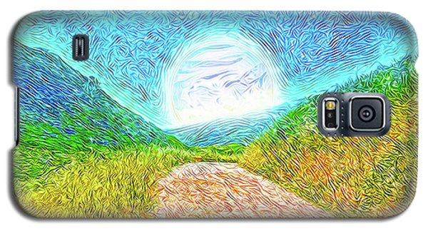 Galaxy S5 Case featuring the digital art Moonlit Path - Marin California Trail by Joel Bruce Wallach