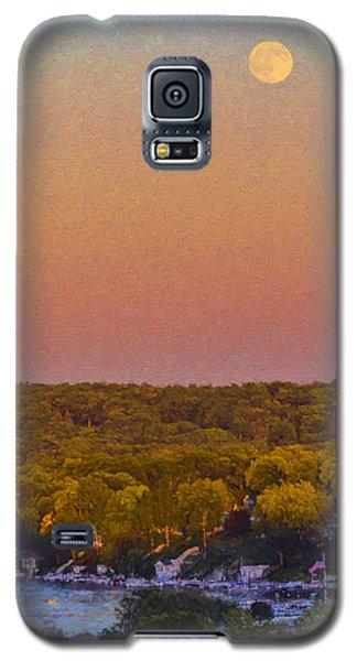 Moonrise Fontana - Lake Geneva Wisconsin Galaxy S5 Case