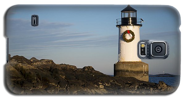 Moonrise Over Fort Pickering Lighthouse Salem Ma Winter Island Wreath Galaxy S5 Case