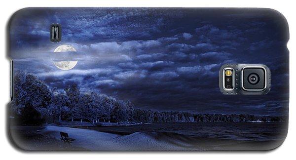 Moonrise Over Pymatuning Lake Galaxy S5 Case