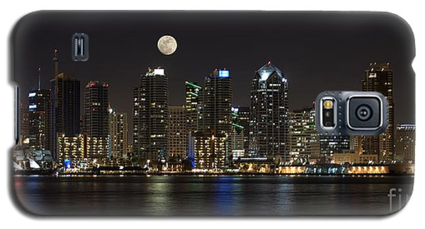 Moonrise Over San Diego Galaxy S5 Case