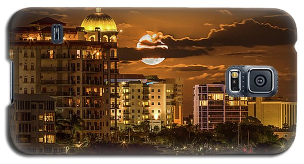 Moonrise Over Sarasota Galaxy S5 Case