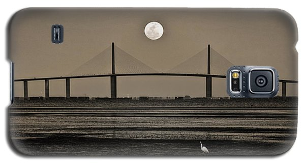Moonrise Over Skyway Bridge Galaxy S5 Case