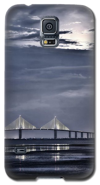 Moonrise Over Sunshine Skyway Bridge Galaxy S5 Case