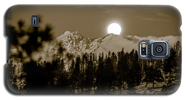 moonset over the Rockies Galaxy S5 Case