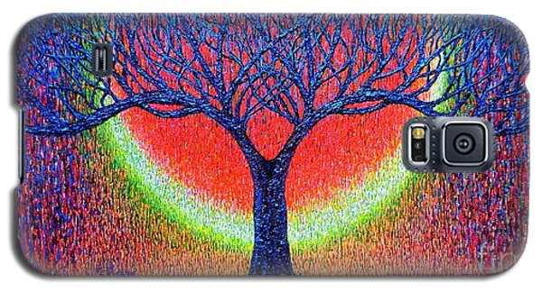 Galaxy S5 Case featuring the painting moonshine-2/God-is light/ by Viktor Lazarev