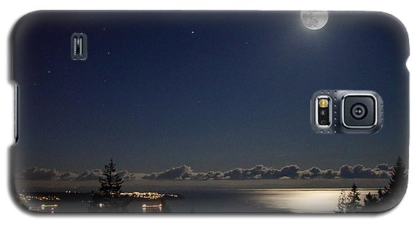 Moonshine Over English Bay Galaxy S5 Case