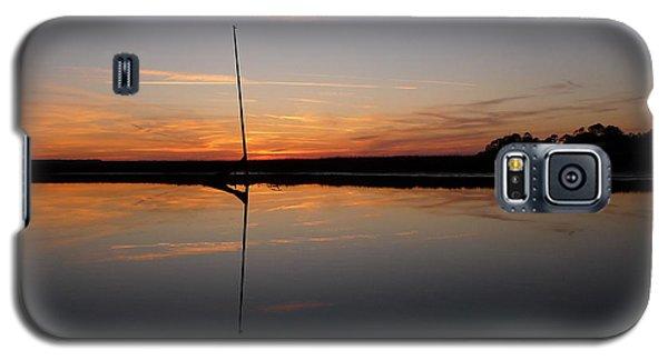 Galaxy S5 Case featuring the photograph Moored Near Saint Marys by Joel Deutsch