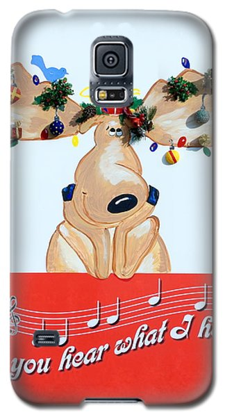 Moose Christmas Greeting Galaxy S5 Case