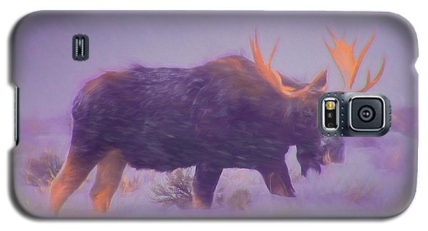 Moose In A Blizzard Galaxy S5 Case