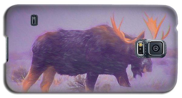 Moose In A Blizzard Galaxy S5 Case