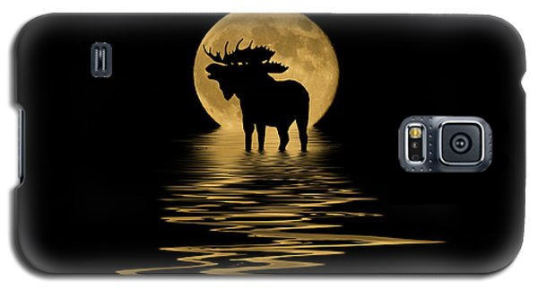 Moose In The Moonlight Galaxy S5 Case