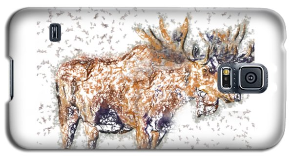 Moose-sticks Galaxy S5 Case by Elaine Ossipov