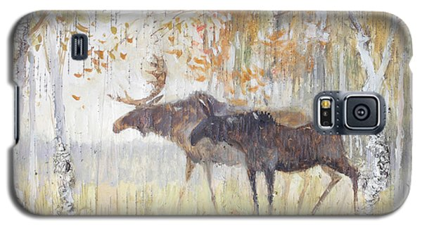 Mooses In The Autumn Woods Galaxy S5 Case