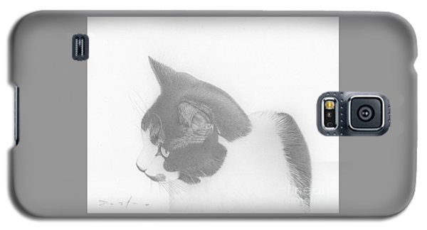 Moozie Cat Drawing Galaxy S5 Case