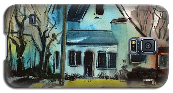 Galaxy S5 Case featuring the painting Moppity's House Matted Framed Glassed by Charlie Spear