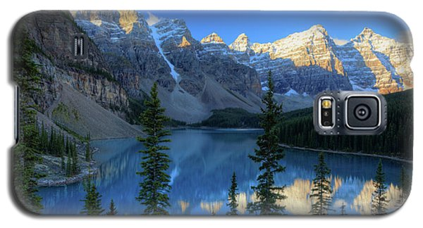 Moraine Lake Sunrise Blue Skies Galaxy S5 Case