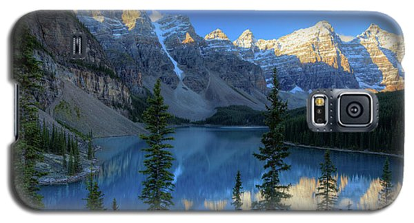Moraine Lake Sunrise Blue Skies Galaxy S5 Case