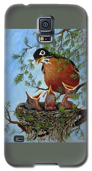 Galaxy S5 Case featuring the painting More Food by Roseann Gilmore