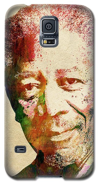 Morgan Freeman Galaxy S5 Case by Mihaela Pater