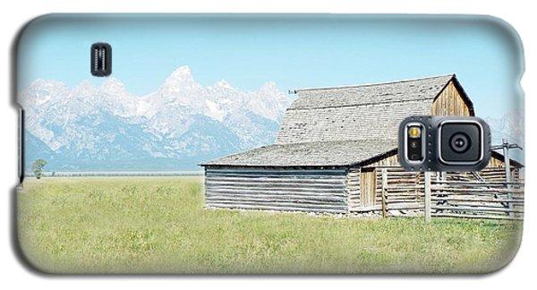 Galaxy S5 Case featuring the photograph Mormon Row Barn - Grand Tetons by Joseph Hendrix
