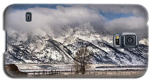 Galaxy S5 Case featuring the photograph Mormon Row Extended Panorama by Adam Jewell