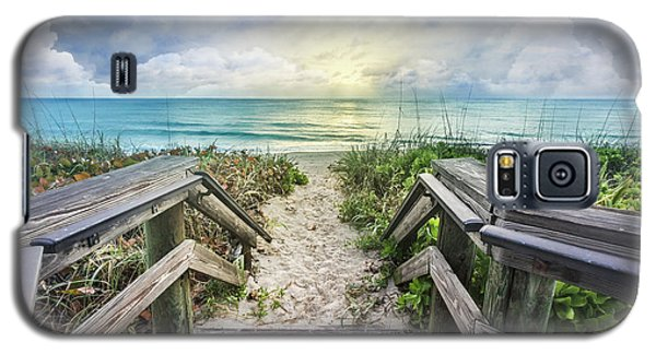 Galaxy S5 Case featuring the photograph Morning Blues At The Dune by Debra and Dave Vanderlaan
