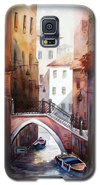 Galaxy S5 Case featuring the painting Morning Canals by Samiran Sarkar