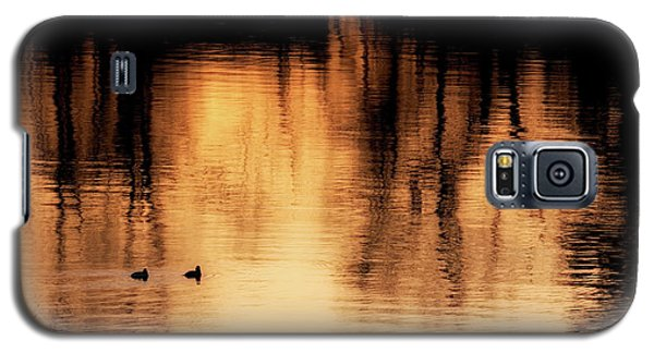 Galaxy S5 Case featuring the photograph Morning Ducks 2017 by Bill Wakeley