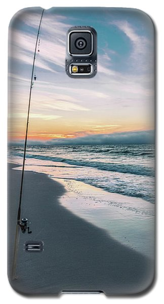 Galaxy S5 Case featuring the photograph Morning Fishing At The Beach  by John McGraw