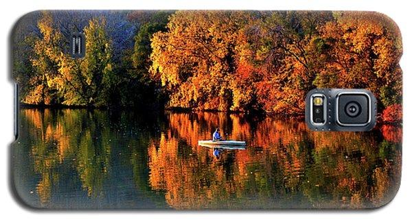 Morning Fishing On Lake Winona Galaxy S5 Case