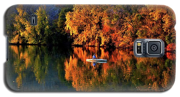 Morning Fishing On Lake Winona Galaxy S5 Case