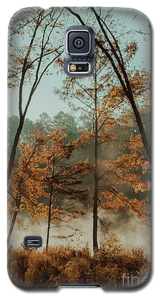 Galaxy S5 Case featuring the photograph Morning Fog At The River by Iris Greenwell
