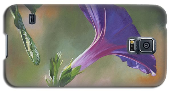 Galaxy S5 Case featuring the painting Morning Glory by Alecia Underhill