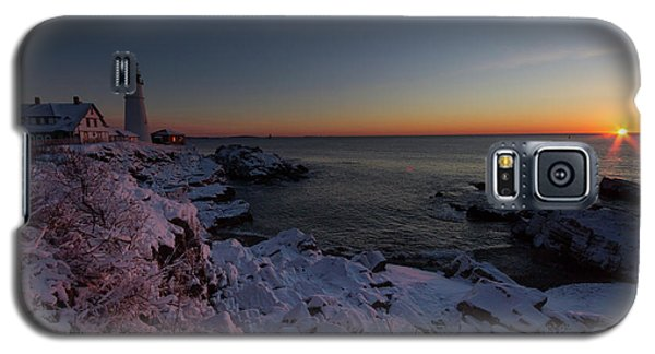 Morning Glow At Portland Headlight Galaxy S5 Case