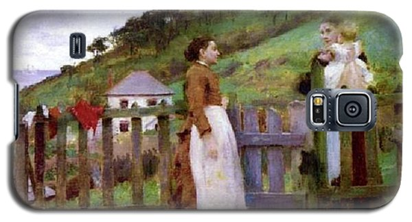 Galaxy S5 Case featuring the painting Morning Gossip by Henry Scott Tuke