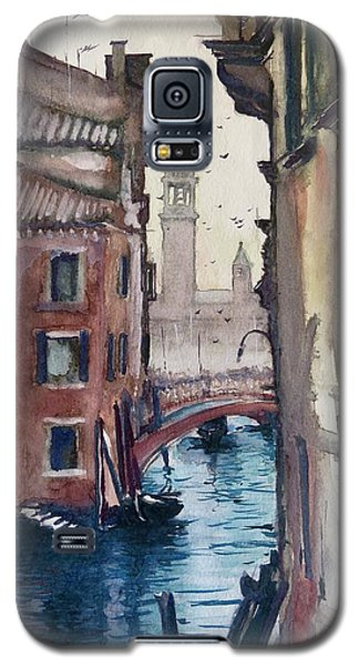 Galaxy S5 Case featuring the painting Morning In Venice by Geni Gorani