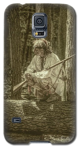 Galaxy S5 Case featuring the digital art Morning Light Cook Forest Sepia Toned by Randy Steele