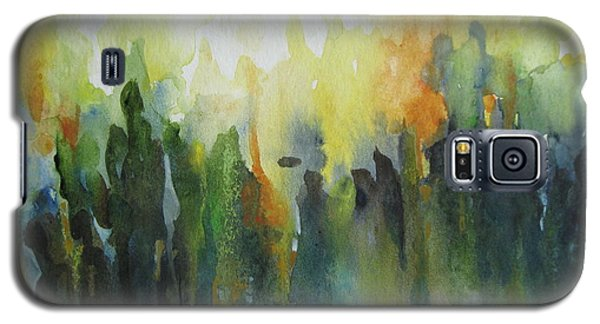 Galaxy S5 Case featuring the painting Morning Light by Elena Oleniuc