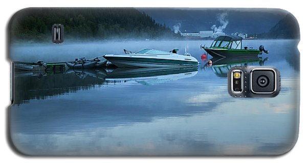 Morning Mist Adams Lake Galaxy S5 Case by Theresa Tahara