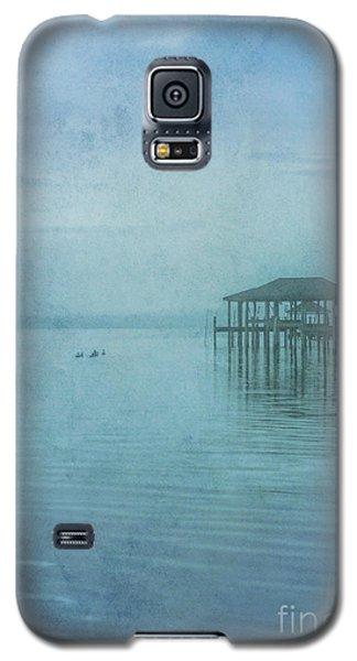 Galaxy S5 Case featuring the digital art Morning Mist In Blue by Randy Steele