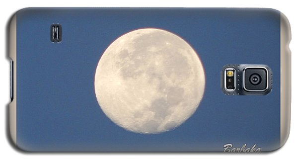 Galaxy S5 Case featuring the photograph Morning Moon by Barbara Tristan