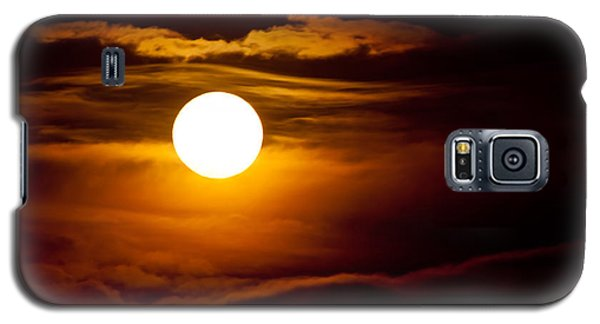 Morning Moonset Galaxy S5 Case by Colleen Coccia