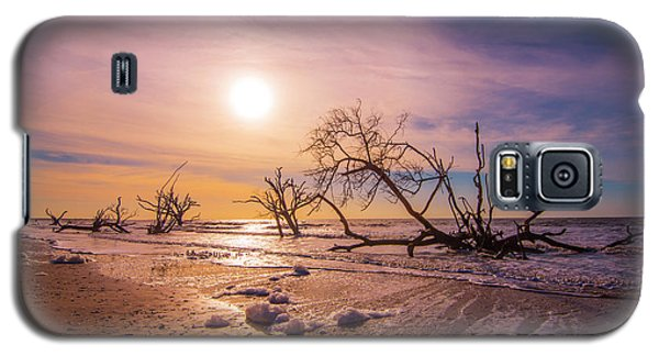 Galaxy S5 Case featuring the photograph Morning On Boneyard Beach by Steven Ainsworth