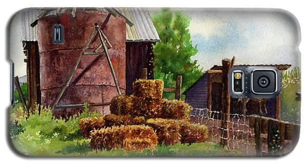Galaxy S5 Case featuring the painting Morning On The Farm by Anne Gifford