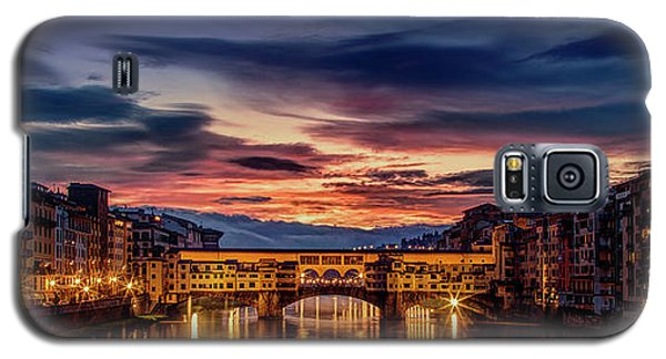 Galaxy S5 Case featuring the photograph Morning Panorama In Florence by Andrew Soundarajan